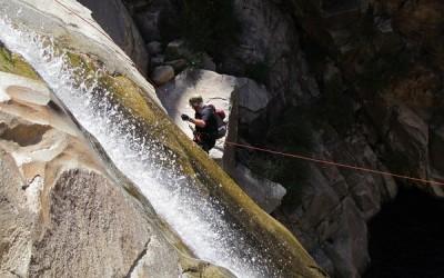 Tucson Hikes   Palisades Canyon rapelling