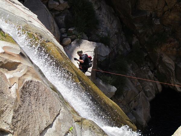 Tucson Hikes | Palisades Canyon rapelling