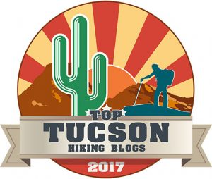 Hiking Trails in Tucson Top Blogs Badge